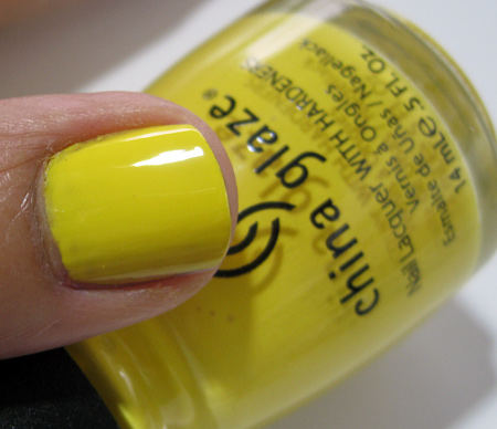 China Glaze Up and Away Swatches Review Photos Happy Go Lucky 11