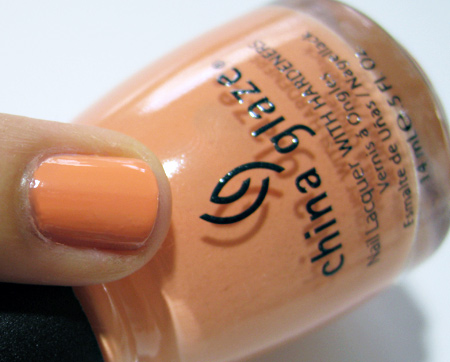 China Glaze Up and Away Swatches Review Photos Peachy Keen 9