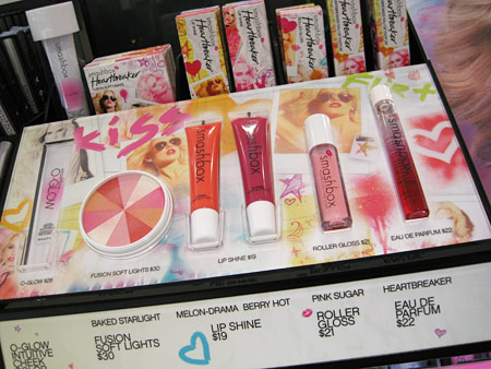 Smashbox Heartbreaker Collection Display with glosses