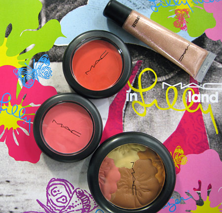 mac in lillyland lilly pulitzer collection swatches reviews