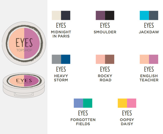 topshop makeup collection eyes