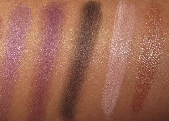 nyx purple smokey look kit review swatches photos