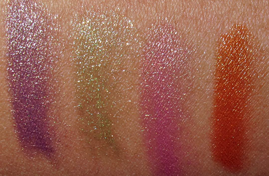 rimmel eyeful eye glistener swatches