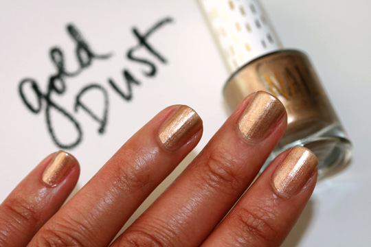 topshop nails gold dust