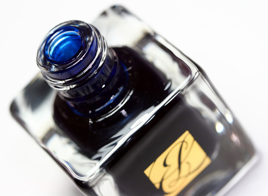 estee lauder blue dahlia swatches pure color nail lacquer