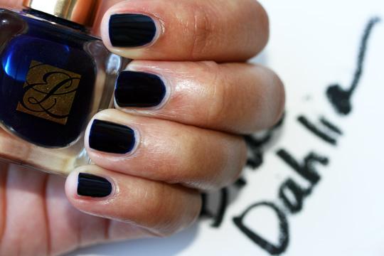 estee lauder blue dahlia swatches pure color nail lacquer