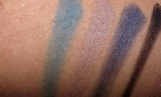 estee lauder blue dahlia swatches review blue dahlia palette swatches