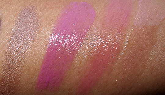estee lauder blue dahlia swatches review blue sepia sand glosses swatches