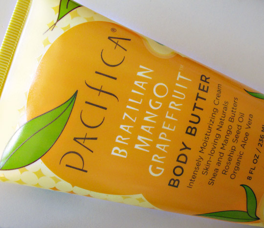 pacifica brazilian mango grapefruit body butter review