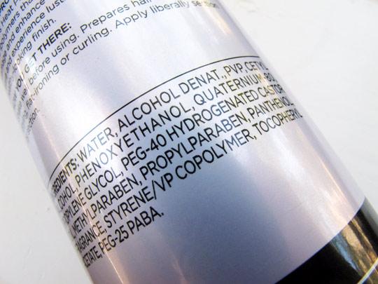 pantene heat protection shine spray review