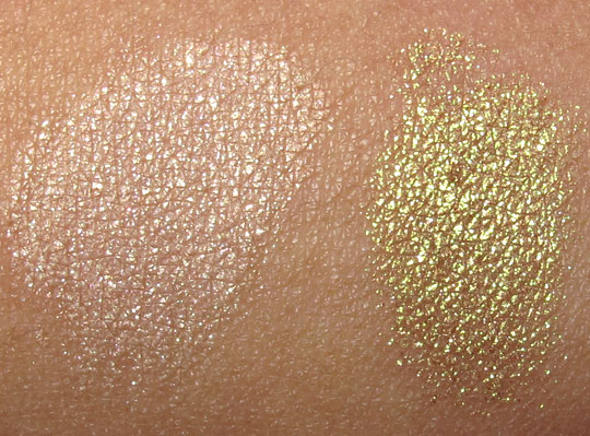 MAC Fabulous Felines Swatches Leopard Luxe Pigment Lithe Old Gold