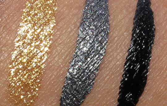 MAC Fabulous Felines Swatches Leopard Luxe Superslick Eye Liner Pure Show Marked for Glamour On the Hunt