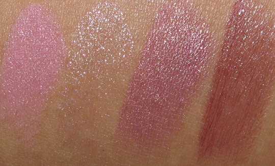 MAC Fabulous Felines Swatches Palace Pedigreed Lipstick Of Royalty Superior Aristo-Cat Cunning
