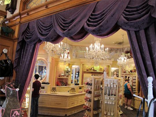 beauty of disney purple curtain jewelry store