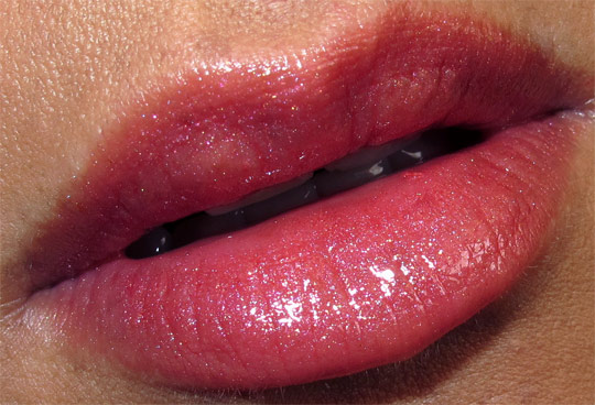 mac fabulous felines leopard luxe fotd lip swatch