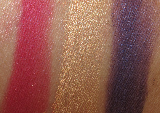 mac venomous villains review swatches photos dr facilier pigment swatches on nc35 skin