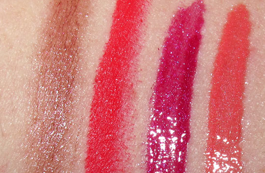 mac venomous villains review swatches photos evil queen magically lipstick lipglass on nw25 skin