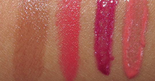 mac venomous villains review swatches photos lipsticks and lipglasses on nc35 skin