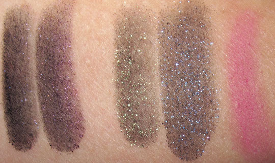 mac venomous villains review swatches photos maleficent mineralize eyeshadow swatches on nw25 skin