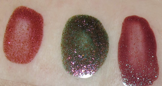 mac venomous villains review swatches photos maleficent mineralize nail lacquer swatches on nw25 skin