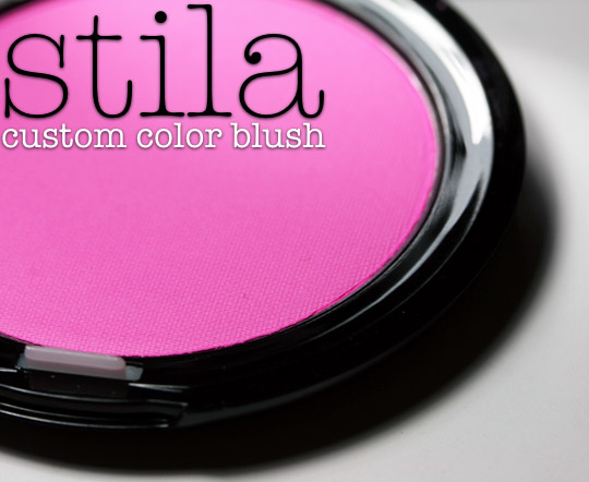 stila custom color blush swatches review