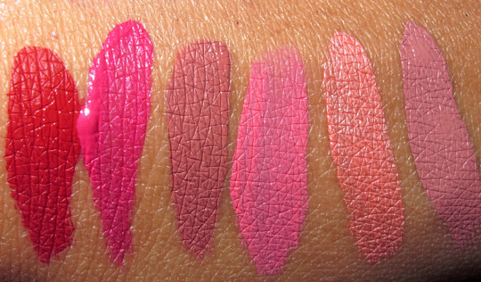 stila long wear liquid lip color swatches