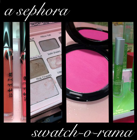 stila too faced the balm sephora swatch o rama