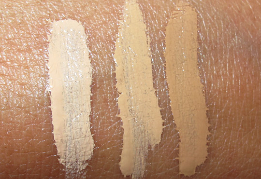 the balm liquid timebalm swatches