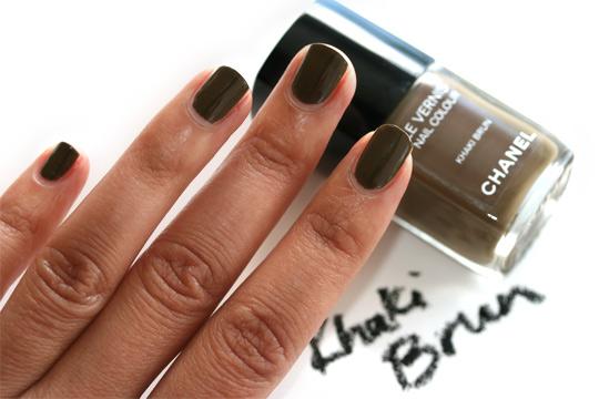 chanel les khaki de chanel swatches review photos khaki brun