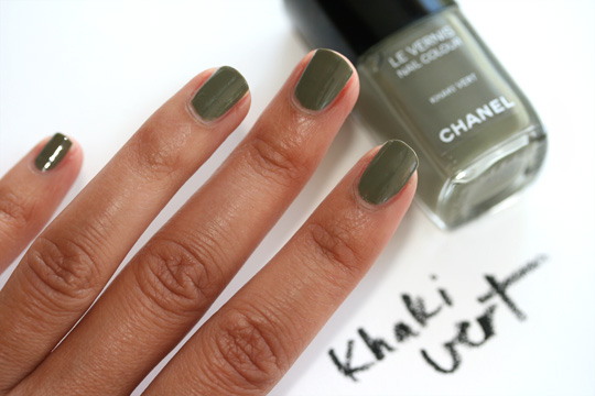 chanel les khaki de chanel swatches review photos khaki vert