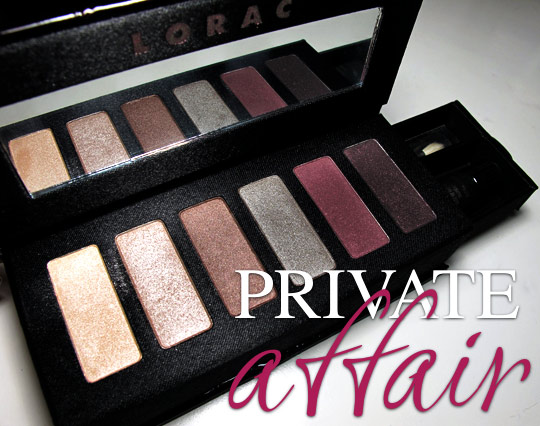 lorac private affair palette review