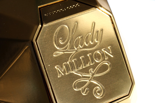 paco rabanne lady million closeup