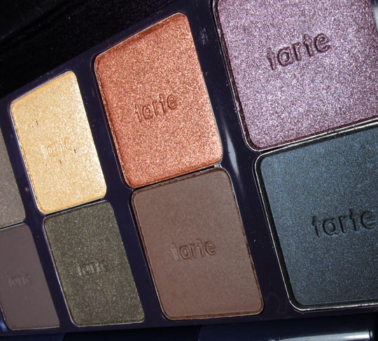 tarte ten palette swatches review closeup 2