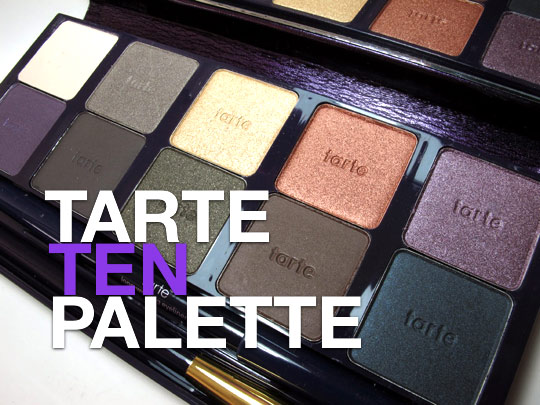 tarte ten palette swatches review