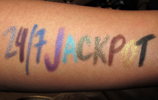 urban decay 24 7 jackpot swatches review