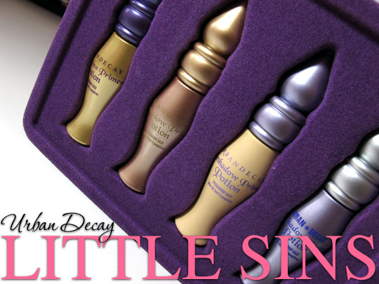 urban decay little sins eyeshadow primer potion set in hand