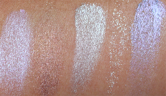 MAC a tartan tale holiday 2010 swatches pictures photos Pigment in Cheers My Dear