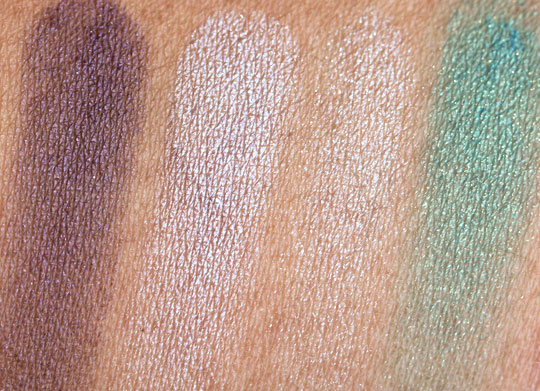 bobbi brown crystal eye palette face of the day swatches