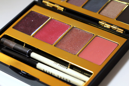 bobbi brown holiday 2010 modern classic lip eye palette glosses all