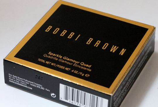 bobbi brown holiday 2010 sparkle glamour quad box