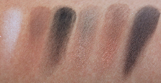 bobbi brown holiday 2010 swatches day to night warm eye palette
