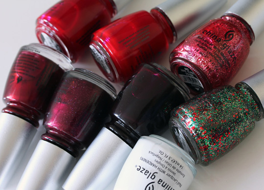 china glaze holiday 2010 swatches photos review