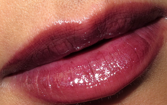 dolce gabbana evocative collection fall 2010 swatches review photos amethyst-lip-gloss-lip-swatch