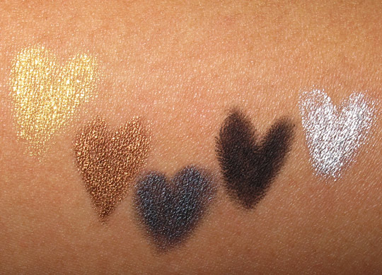 make up for ever rock for-ever aqua eyes swatches