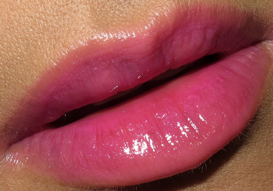 nars easy lover gloss on top of fred farrugia lip duo