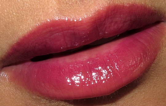 nars holiday 2010 swatches review photos bougainville lip gloss lip closeup