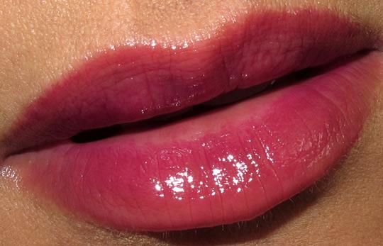 nars holiday 2010 swatches review photos bougainville lip gloss lip closeup