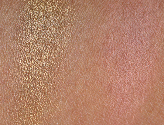 nars holiday 2010 swatches review photos etrusque single eyeshadow sex appeal blush on skin