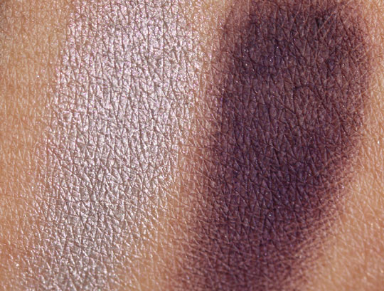 nars holiday 2010 swatches review photos melusine duo eyeshadow on skin