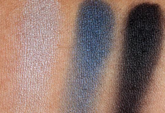 nars holiday 2010 swatches review photos okinawa trio eyeshadow on skin